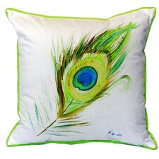 Peacock Feather Indoor/Outdoor Throw Pillow