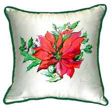 Poinsettia Indoor/Outdoor Throw Pillow