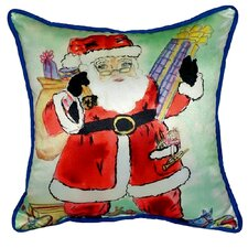 Santa Indoor/Outdoor Throw Pillow