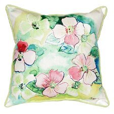 Flower Wreath Indoor/Outdoor Throw Pillow