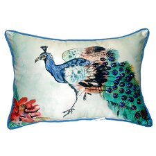 Peacock Indoor/Outdoor Lumbar Pillow