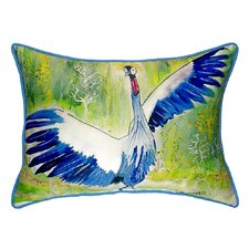 Cheap Dancing Crane Indoor/Outdoor Lumbar Pillow