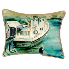 Oyster Boat Indoor/Outdoor Lumbar Pillow