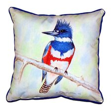 Kingfisher Outdoor Throw Pillow