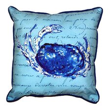 Script Crab Outdoor Lumbar Pillow