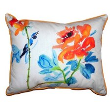 Bird & Roses Indoor/Outdoor Lumbar Pillow