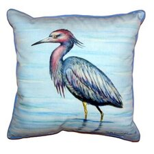 Little Heron Indoor/Outdoor Throw Pillow