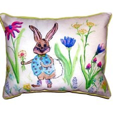 Happy Bunny Outdoor Lumbar Pillow