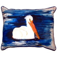 Spring Creek Pelican Outdoor Lumbar Pillow