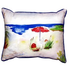 Beach Umbrella Outdoor Lumbar Pillow