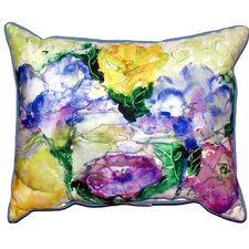 Watercolor Garden Outdoor Lumbar Pillow