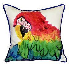 Parrot Head Indoor/Outdoor Throw Pillow