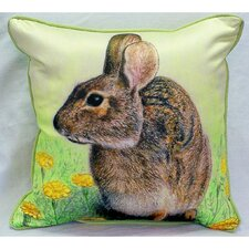 Garden Rabbit Indoor/Outdoor Throw Pillow