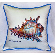 Coastal Conch Indoor/Outdoor Throw Pillow