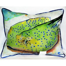 Coupon Coastal Stingray Indoor/Outdoor Lumbar Pillow
