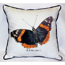 Garden Admiral Butterfly Indoor/Outdoor Throw Pillow