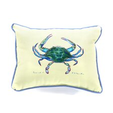 Cheap Coastal Female Crab Indoor/Outdoor Throw Pillow
