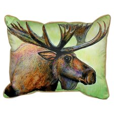 Lodge Moose Indoor/Outdoor Lumbar Pillow