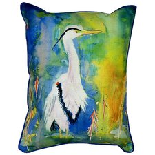 Coastal Heron Indoor Outdoor Lumbar Pillow