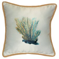 Coastal Coral Indoor/Outdoor Throw Pillow