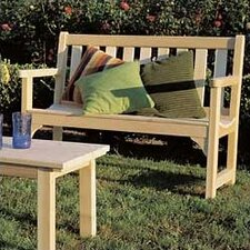 Cedar English Wood Garden Bench