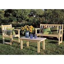 Find English 3 Piece Bench Seating Group