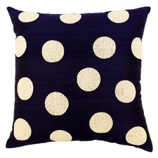 Harlequin Polka Dot Beaded Silk Throw Pillow