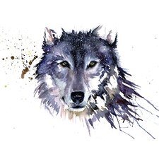 Snow Wolf by Sarah Stokes Canvas Wall Art
