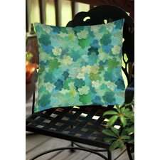Aqua Bloom Water Blends Indoor / Outdoor Throw Pillow