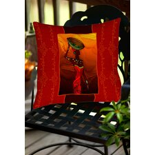 African Beauty 2 Indoor/Outdoor Throw Pillow
