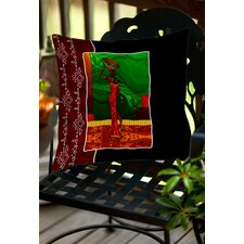 African Beauty 1 Indoor/Outdoor Throw Pillow