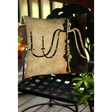 Spacial Price Chandelier 2 Indoor/Outdoor Throw Pillow