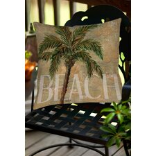 Find Beach Palm Indoor/Outdoor Throw Pillow