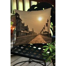 Boardwalk Sunrise Indoor/Outdoor Throw Pillow