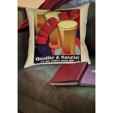 Great price Bieres Qualite and Saveur Printed Throw Pillow