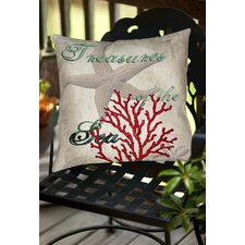 Treasures of the Sea Indoor/Outdoor Throw Pillow