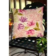 Amazing Tulips and Lace Indoor/Outdoor Throw Pillow