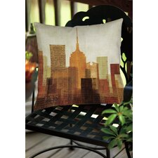 Summer in the City II Indoor/Outdoor Throw Pillow
