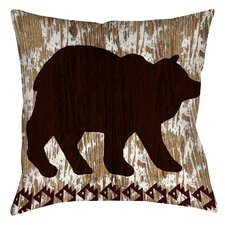 2017 Online Wilderness Bear Indoor/Outdoor Throw Pillow