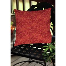 Zinnia Damask Indoor/Outdoor Throw Pillow