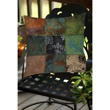 Velvet Patch Indoor/Outdoor Throw Pillow