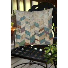 Chevron Overlay 2 Indoor/Outdoor Throw Pillow