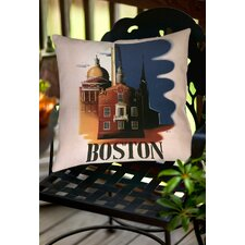 Boston Architecture Indoor/Outdoor Throw Pillow