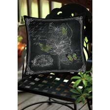 Comparison Chalkboard Botanical 2 Indoor/Outdoor Throw Pillow