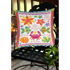 By the Sea Indoor/Outdoor Throw Pillow