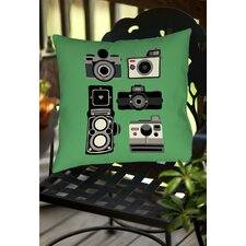 Cameras Indoor/Outdoor Throw Pillow