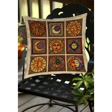 Celestial Squares Indoor/Outdoor Throw Pillow