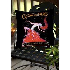 Savings Casino De Paris Indoor/Outdoor Throw Pillow