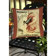 Bonjour Paris Indoor/Outdoor Throw Pillow