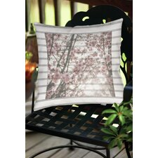 Cherry Blossom Stripes Indoor/Outdoor Throw Pillow